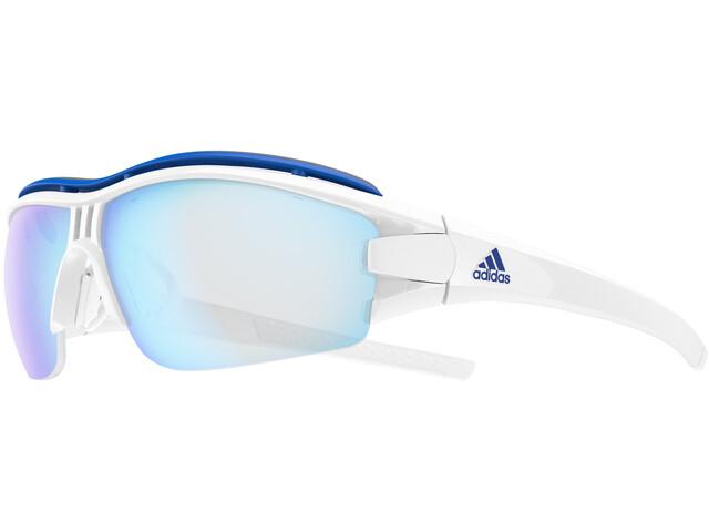 best service 3ea83 c4d5d adidas Evil Eye Halfrim Pro Glasses L white shiny/vario blue
